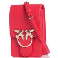 Красная сумка флеп-бег Pinko с брендовым лого, фото
