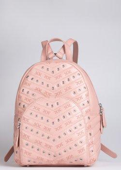 Рюкзак Pinko Eyelets розового цвета, фото