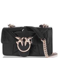 Сумка флеп-бег Pinko Mini Love Bag Rockstar с лого черного цвета, фото