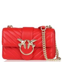 Женская сумка флеп-бег Pinko в красном цвете, фото