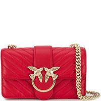 Женская сумка кросс-боди Pinko красного цвета, фото