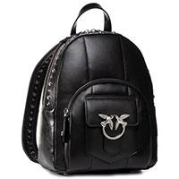 Черный рюкзак Pinko Quilting с фирменным декором, фото