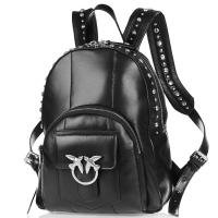 Черный рюкзак Pinko Free Light с заклепками, фото