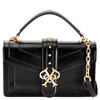 Черная сумка Pinko Double P Icon Classique из матовой кожи, фото