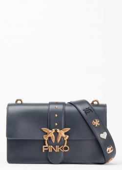 Темно-синяя сумка Pinko Classic Love Bag Icon Simply с заклепками, фото