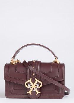 Бордовая сумка Pinko Double P Mini Icon Classique, фото