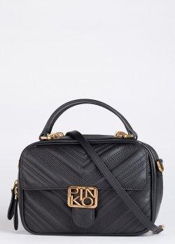 Прямоугольная сумка Pinko Mini Square Bag Chevron с двойной прострочкой, фото