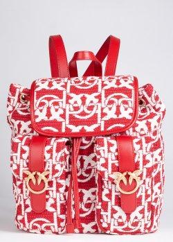 Двухцветный рюкзак Pinko Mini Love Backpack Monogram, фото