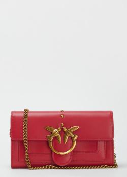 Красная сумка Pinko Mini Love Bag Icon на цепочке, фото