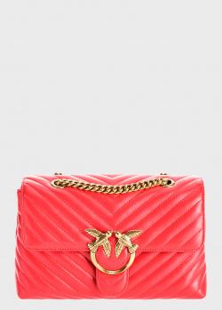 Стеганая сумка Pinko Lady Love Puff V Quilt красного цвета, фото
