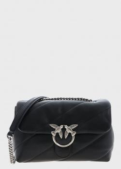 Черная сумка Pinko Love Classic Puff Maxi со стежкой, фото