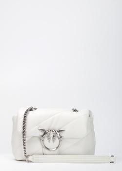 Белая сумка Pinko Mini Love Bag Puff Maxi Quilt, фото