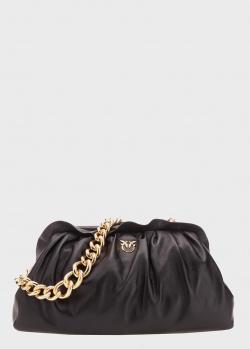 Черная сумка-клатч Pinko Maxi Chain Framed на цепочке, фото