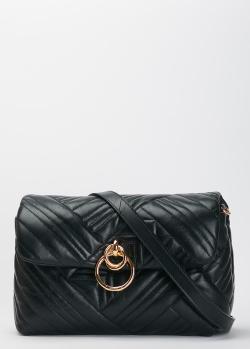 Черная сумка Pinko Lovelink Classic Puff из стеганой кожи, фото