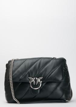 Стеганая сумка Pinko Love Bag Puff черного цвета, фото
