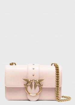 Розовая сумка Pinko Love Mini Icon Simply из гладкой кожи, фото