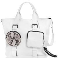 Сумка-шоппер Vic Matie белого цвета, фото