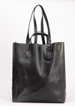 Черная сумка-шоппер Vic Matie с двумя парами ручек, фото