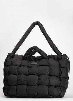 Черная стеганая сумка-рюкзак Vic Matie из текстиля, фото