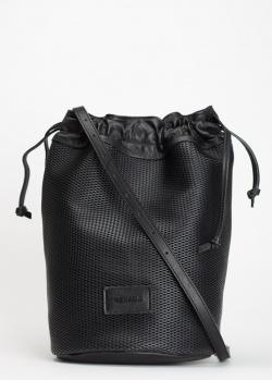 Черная сумка-мешок Vic Matie на тонком ремне, фото