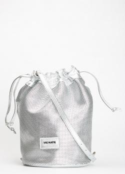 Сумка-мешок Vic Matie серебристого цвета, фото