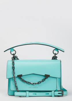 Сумка на цепочке Karl Lagerfeld голубого цвета, фото