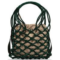 Бархатная сумка-мешок N21 зеленого цвета, фото