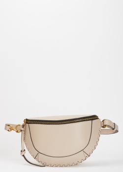 Поясная сумка Isabel Marant бежевого цвета, фото