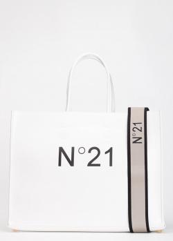 Сумка-шоппер N21 в белом цвете, фото