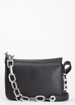 Черная сумка Karl Lagerfeld на серебристой цепочке, фото