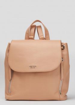 Бежевый рюкзак Tosca Blu Alassio с клапаном на кнопке, фото