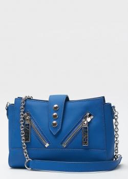 Маленькая синяя сумка Kenzo из матовой кожи, фото