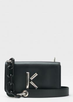 Черная сумка Kenzo с брендовым декором, фото
