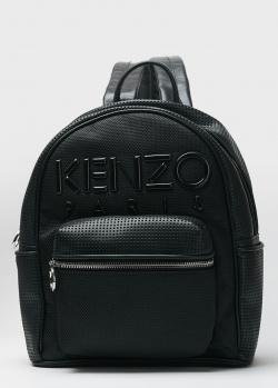 Рюкзак из кожи Kenzo с перфорацией, фото