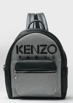 Серый рюкзак Kenzo с аппликацией-лого, фото