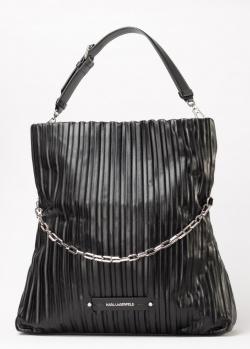 Черная сумка Karl Lagerfeld с декором-цепочкой, фото