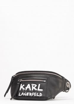 Поясная сумка Karl Lagerfeld с надписью, фото