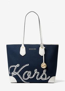 Сумка-шоппер Michael Kors синего цвета, фото