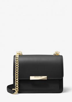 Черная сумка флеп-бег Michael Kors Jade с цепочкой, фото