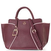 Женская сумка Lа Martina Margarita из бордовой кожи, фото