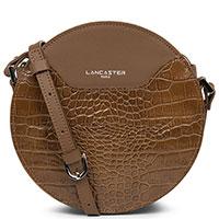 Коричневая сумка Lancaster Exotic Lune Croco круглой формы, фото