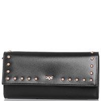 Клатч-кошелек Pinko черного цвета с декором-заклепками, фото