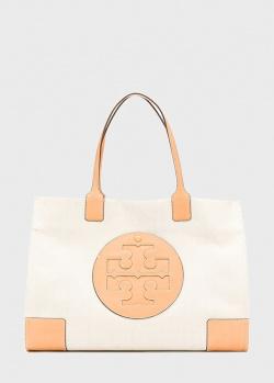 Сумка-шоппер Tory Burch Ella с логотипом, фото