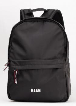 Текстильный рюкзак MSGM черного цвета, фото