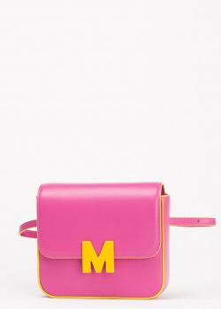 Розовая поясная сумка MSGM с буквой, фото