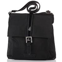 Черная сумка Lancaster Basic Verni кросс-боди, фото