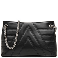 Черная сумка Lancaster Parisienne Matelasse на ручке-цепочке, фото