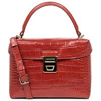 Красная сумка Lancaster Exotic Croco с тиснением кроко, фото