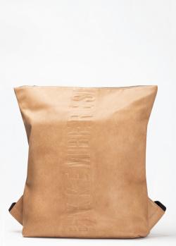 Сумка-рюкзак Bikkembergs бежевого цвета, фото