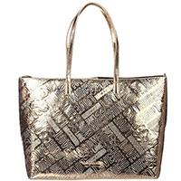 Золотистая сумка-шоппер Love Moschino на одно отделение, фото